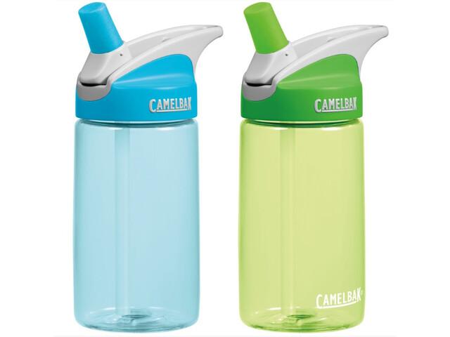 CamelBak Eddy Bottle 400ml 2-Pack Kids, blue/grass